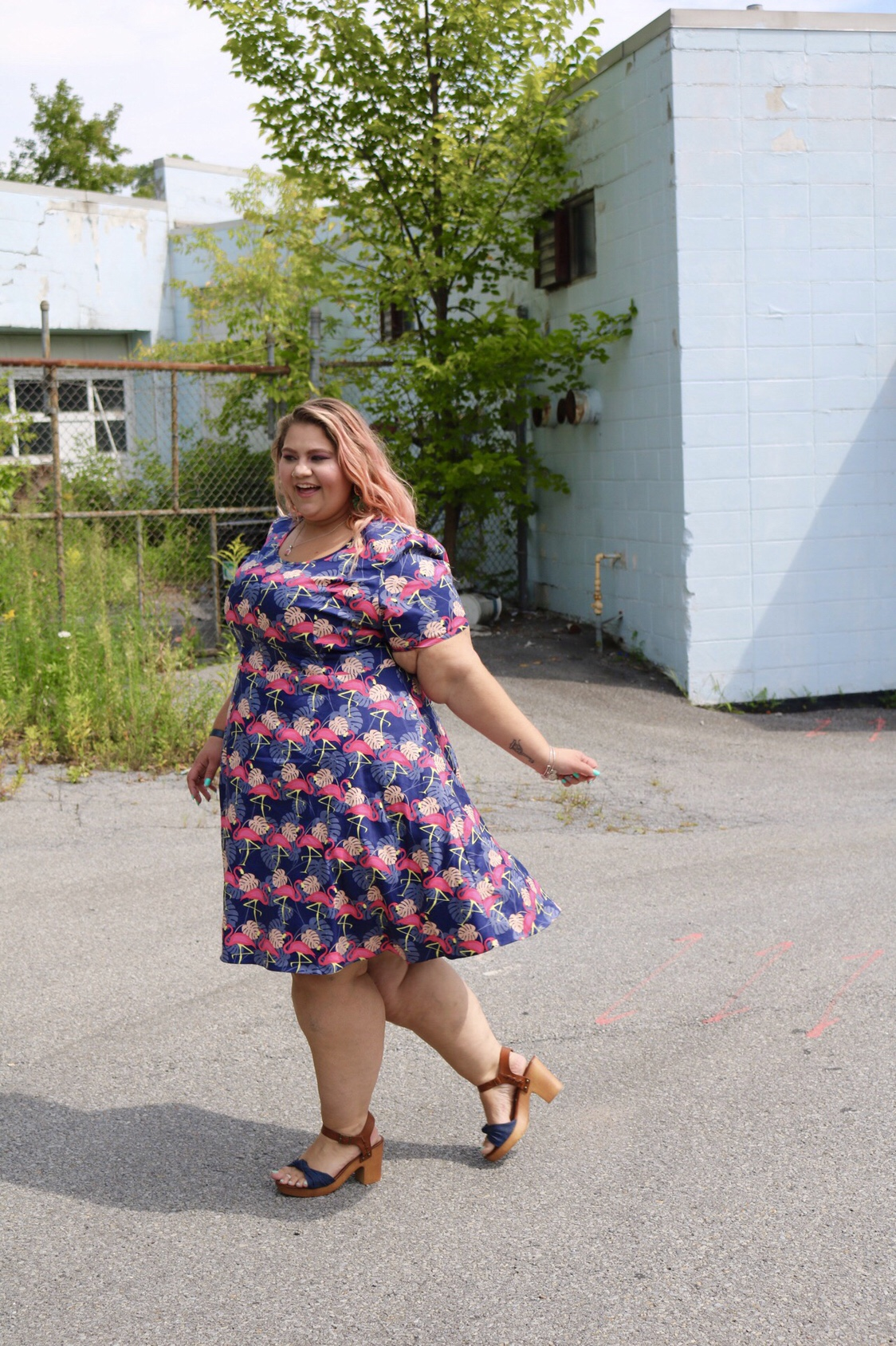 Flamingo, fashion, plussize, blogger