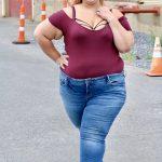 plussize, fashion, blogger, fallfashion, bodysuit, jeans, booties