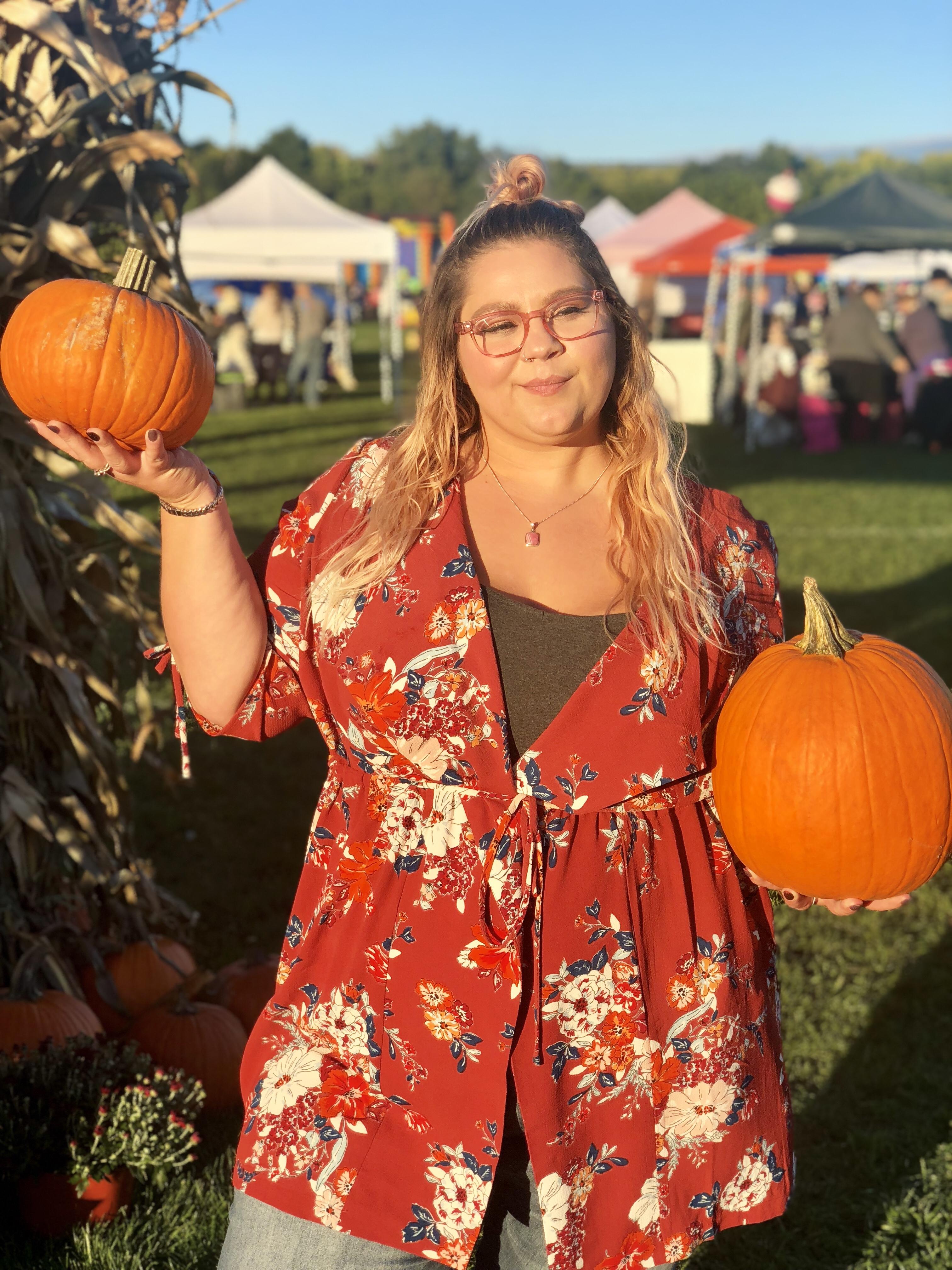 fall, pumpkin, floral, caridgan
